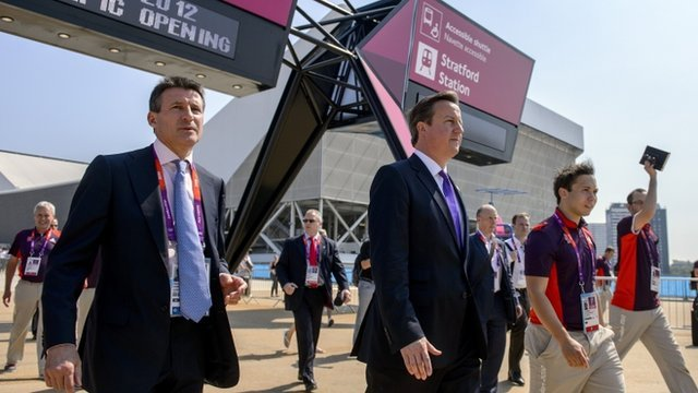 Seb Coe and David Cameron