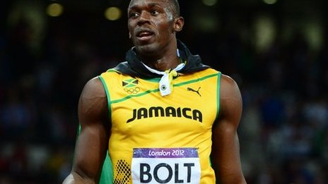 Usain Bolt (right) and Yohan Blake