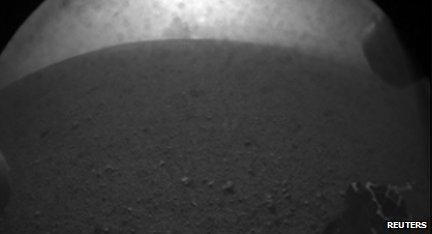 One of the first images of Mars taken by Curiosity