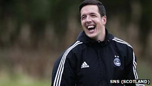 Jamie Langfield is back enjoying training