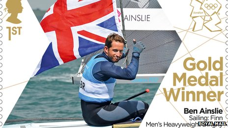 Ben Ainslie image on stamp