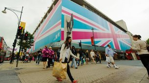 Shoppers on Oxford Street, in central London