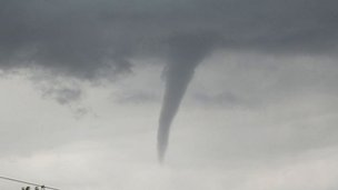 Funnel cloud at Wakefield