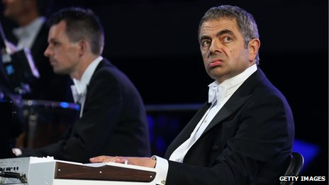 Rowan Atkinson as Mr Bean at the Olympics opening ceremony