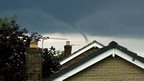 Funnel cloud at Mirfield