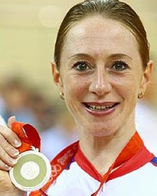 Wendy Houvenaghel won a silver medal in Beijing in 2008