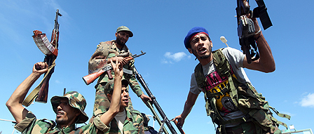 Rebels in Libya
