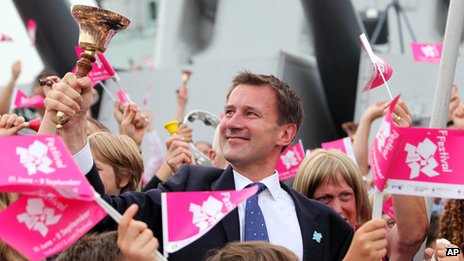 Culture Secretary Jeremy Hunt takes part in All the Bells