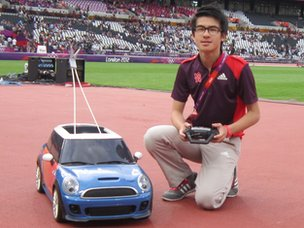 Gareth Goh in the Olympic Stadium