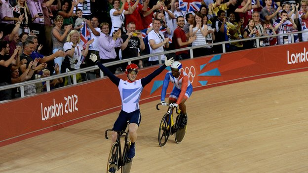 Jason Kenny at the Velodrome