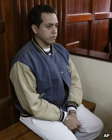 Venezuelan diplomat  Dwight Sagaray at Nairobi's magistrate court