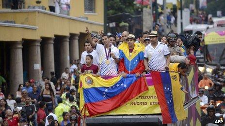 Ruben Limardo gets a hero's welcome in Venezuela