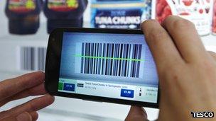 Tesco virtual shopping mobile app