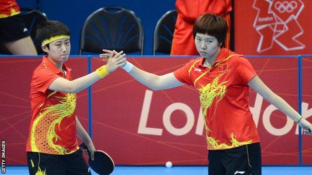 China's Guo Yue and Li Xiaoxia