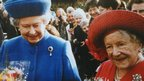 The Queen and Queen Mother, in Norfolk, January 1999