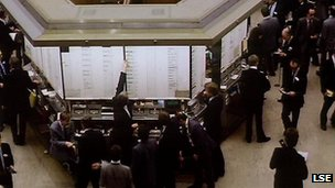 The London Stock Exchange in 1990