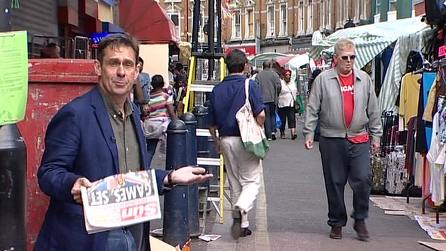 Newsnight&#039;s Paul Mason in Brixton, south London