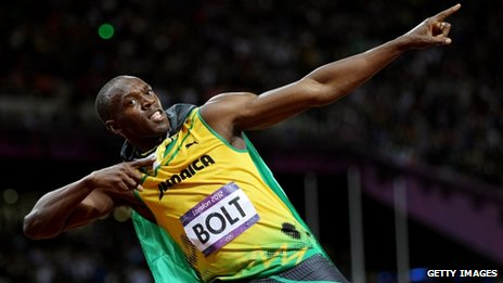 Usain Bolt pose