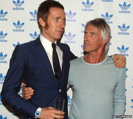 Bradley Wiggins and Paul Weller