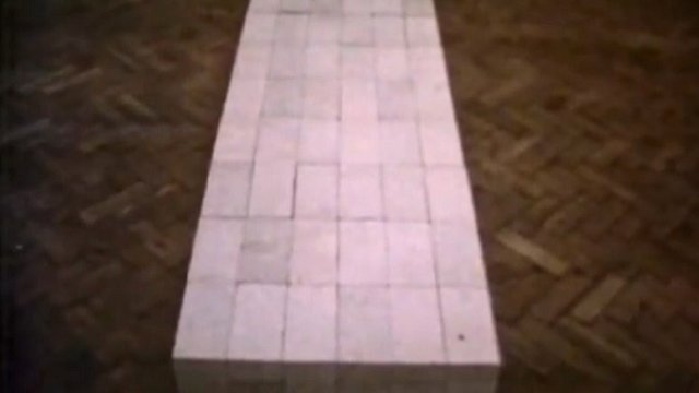 Carl Andre's 120 Bricks at the Tate Gallery