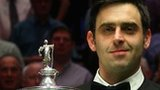 Ronnie O'Sullivan poses with the World championship