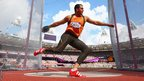 Netherlands Erik Cadee competes in the men's discus throw qualification at the Olympic Stadium