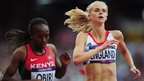 Great Britain's Hannah England qualifies fifth in her 1500m heats