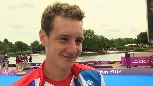 GB&#039;s triathlete Alistair Brownlee 