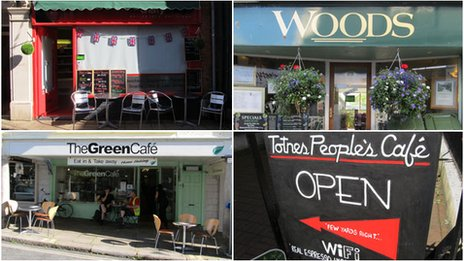 Four coffee outlets based in Totnes