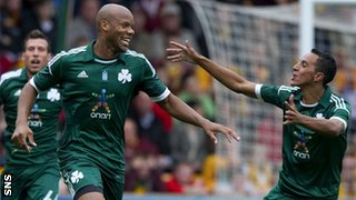 Panathinaikos won 2-0 at Fir Park