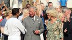 Jay Kamiraz shook hands with Prince Charles, who is said to be a fan of the torchbearer's Souls of Prophecy choir.