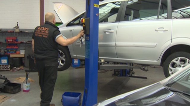 A Tottenham mechanics garage which has reopened after the riots