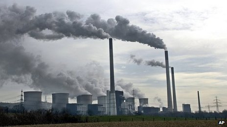 Coal power plant in Gelsenkirchen, with the tallest chimneys in Germany - 302 metres.