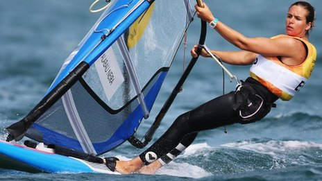 Marina Alabau takes windsurfing gold at the 2012 Olympics