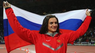 Russian athlete Yelena Isinbayeva