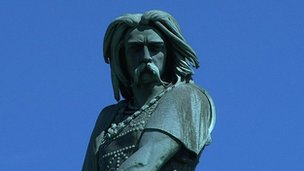 Statue of Gaulish leader Vercingetorix at Alise-Sainte-Reine in Burgundy, France