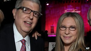 Marvin Hamlisch, left, with Barbra Streisand at the Cedars-Sinai Board of Governors Gala at The Beverly Hilton Hotel in Beverly Hills in 2011