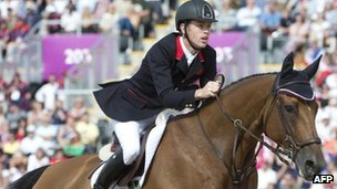 Scott Brash competes in the team show jumping event at Greenwich Park