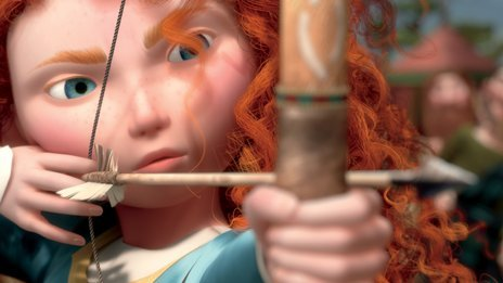 Image of Brave&#039;s heroine, Merida
