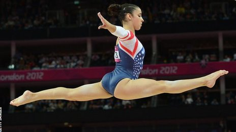 USA's Aly Raisman took gold in the Olympic women's floor