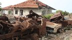 Damaged home in north-eastern Sri Lanka