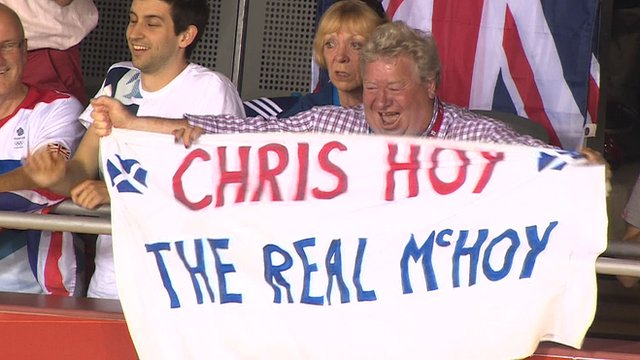 Sir Chris Hoy's parents celebrate his sixth gold