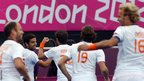 Valentin Verga of the Netherlands celebrates after scoring a goal against South Korea 