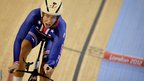 US cyclist Sarah Hammer wins the women's omnium individual pursuit