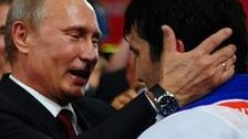 Vladimir Putin at the judo