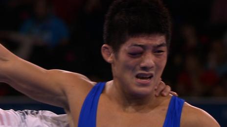 South Korean wrestler