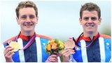 Olympic triathlon champion Alistair Brownlee and bronze medallist, brother Jonny