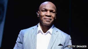 Mike Tyson takes part in a curtain call following his Mike Tyson: Undisputed Truth opening night in New York City 2 August 2012