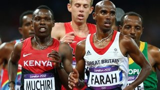 Mo Farah (right)