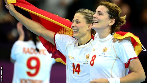 Montenegro celebrate their last eight win